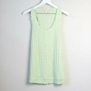 Sundance Mixed Texture Knit Sleeveless Tank Top